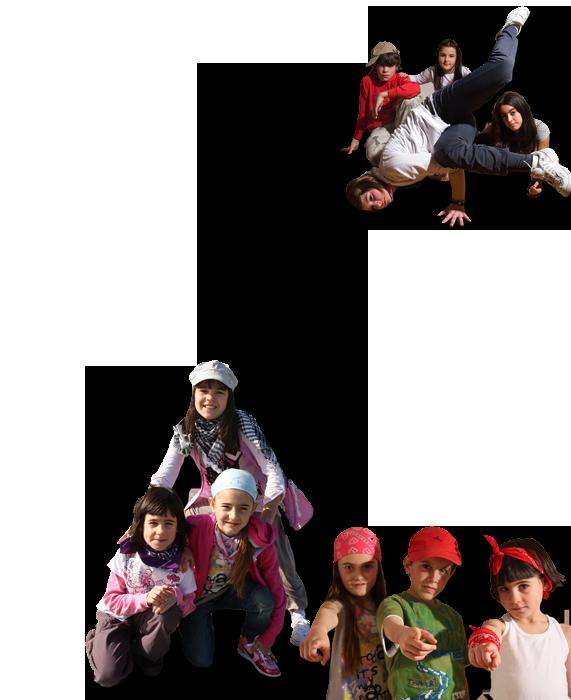 niños bailando hip hop